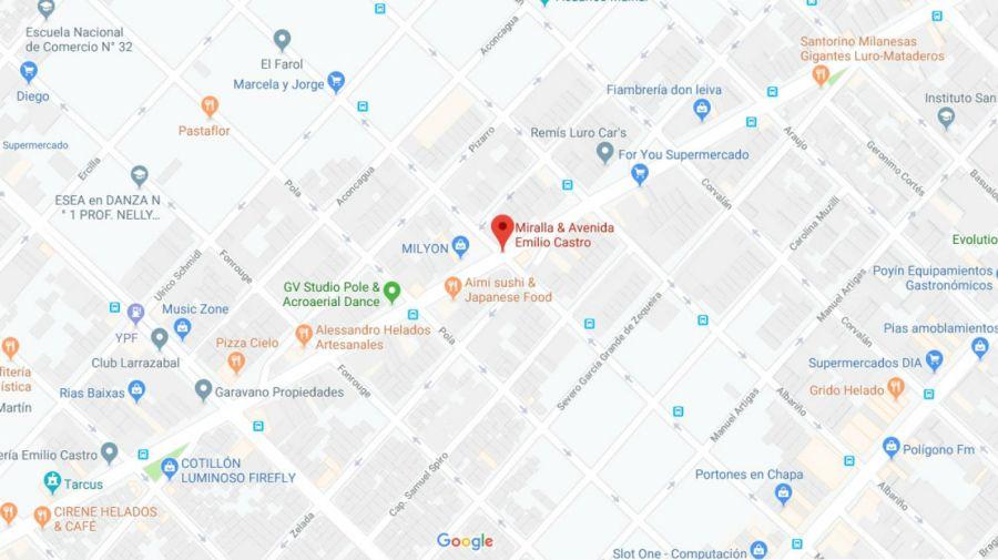 La oficial fue sorprendida en la esquina de Emilio Castro y Miralla.