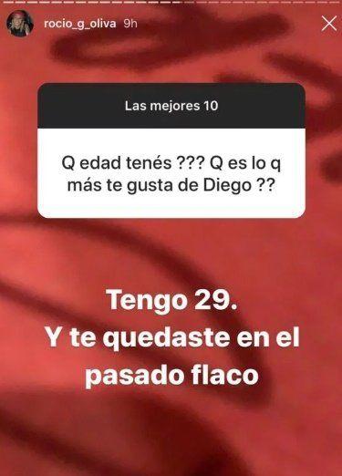 Rocío Oliva se hartó de hablar de Maradona