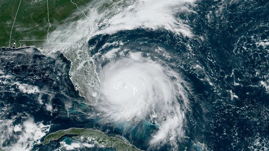 satelitales huracan dorian