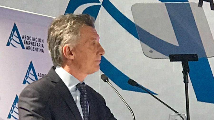 Macri, en la Asociación Empresariaq Argentina.