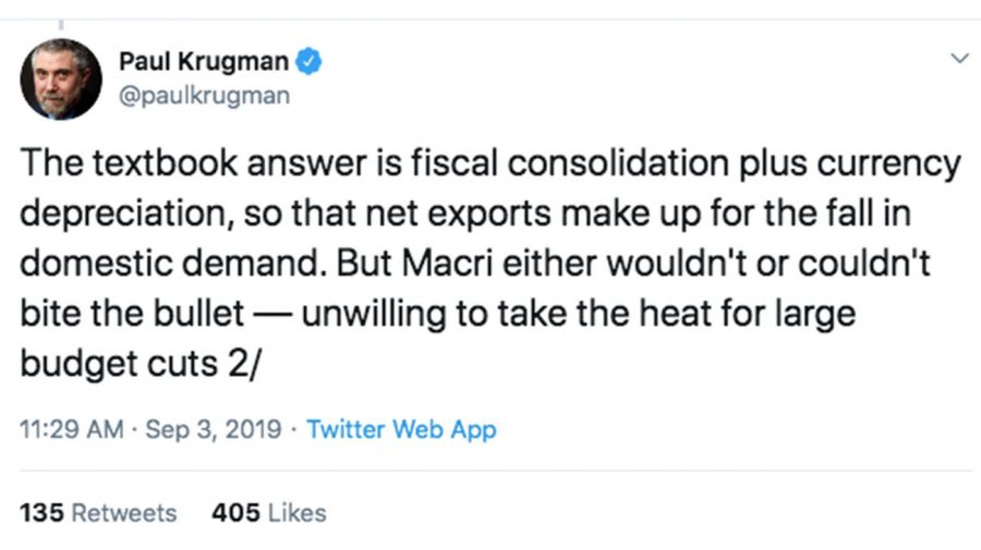 Krugman Tweet 1