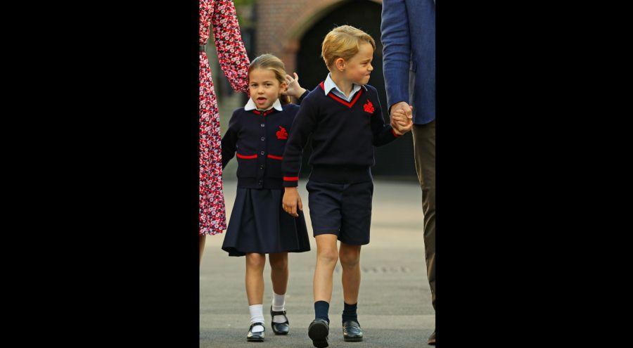 El primer día de clase de la familia real