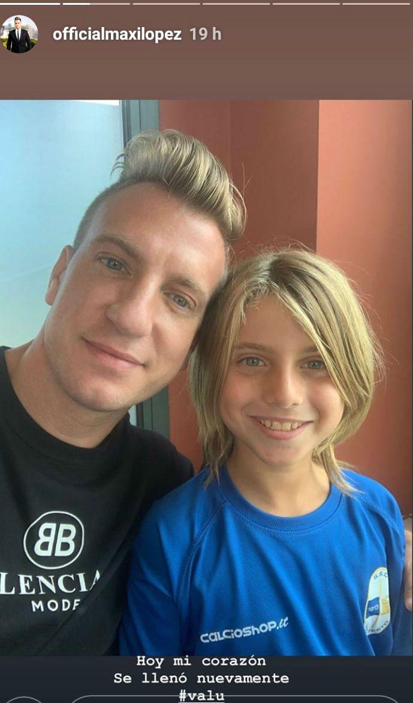 Maxi López compartió el encuentro con sus hijos y le tiró un palito a Wanda Nara