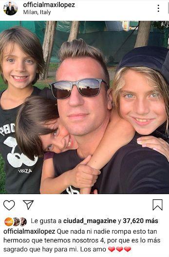 El contundente mensaje de Maxi López tras el encuentro con sus hijos