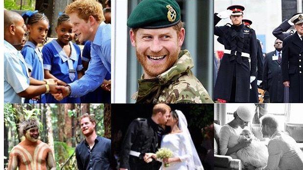 Collage dedicado al Príncipe Harry