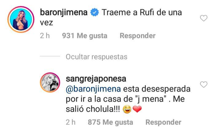 La China Suárez reveló cuál es la cantante preferida de Rufina