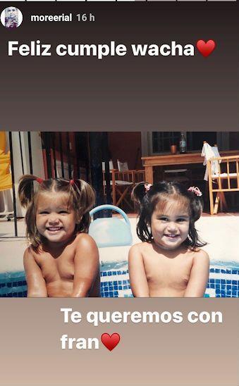 Morena Rial homenajeó a su hermana con una tierna foto