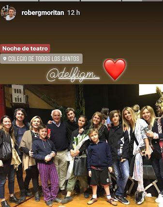 Roberto García Moritán y familia