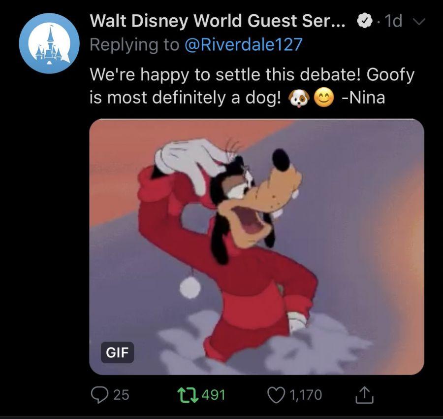 Tweet de Goofy