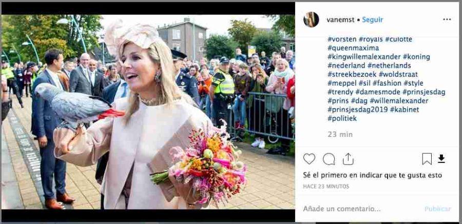 La foto de Máxima de Holanda junto a una exótica visita que se hizo viral