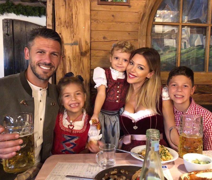 Evangelina Anderson y su familia