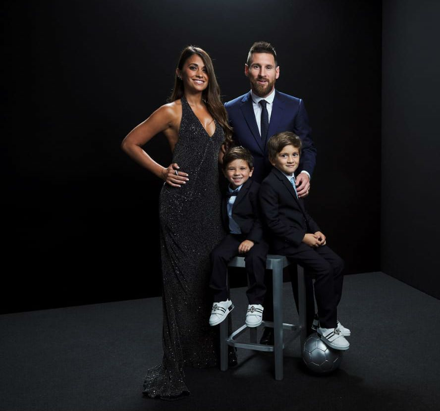 Leo Messi y Anto Roccuzzo en los The Best FIFA Awards