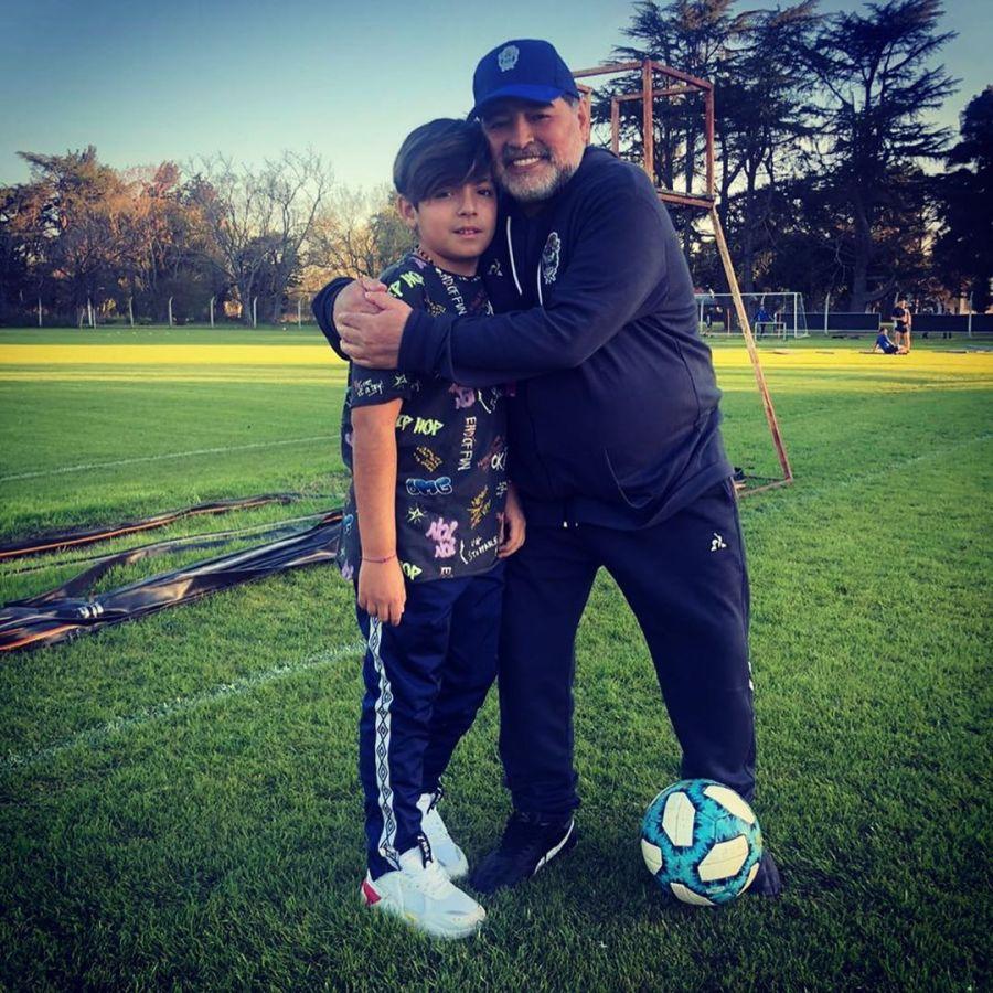El reencuentro de Diego Maradona con su nieto Benjamín Agüero