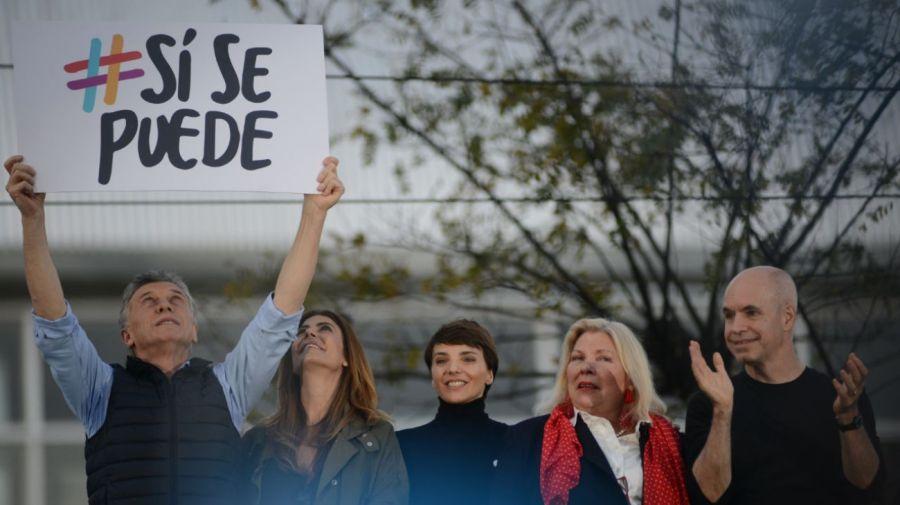 Mauricio Macri brindó un discurso desde el palco montado frente a Barrancas de Belgrano