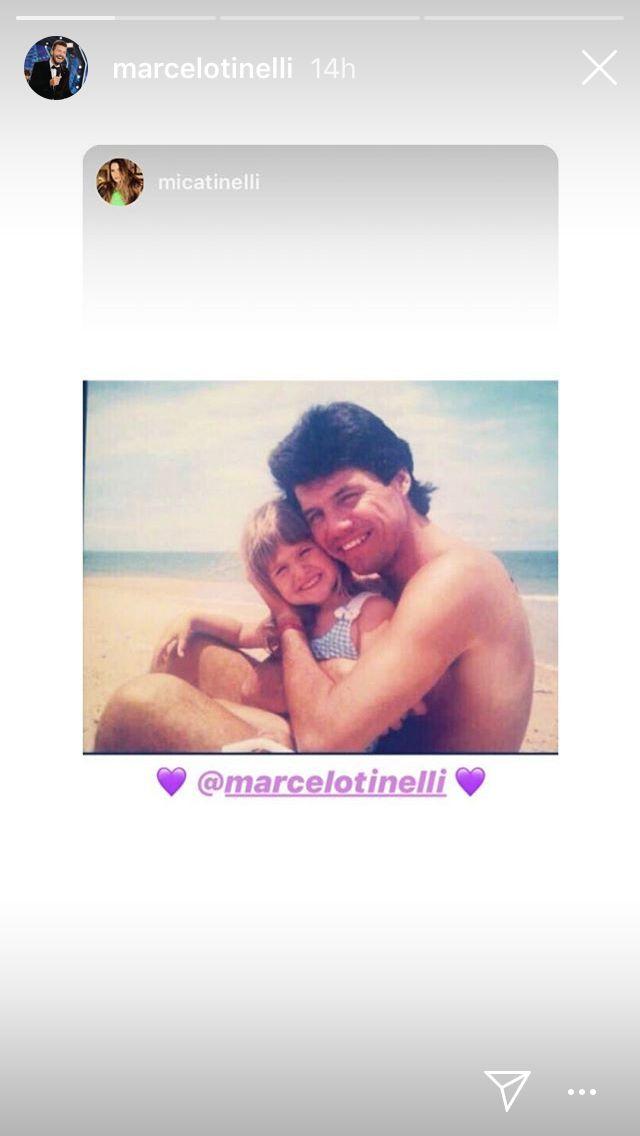 Historia de Mica Tinelli compartida por Marcelo