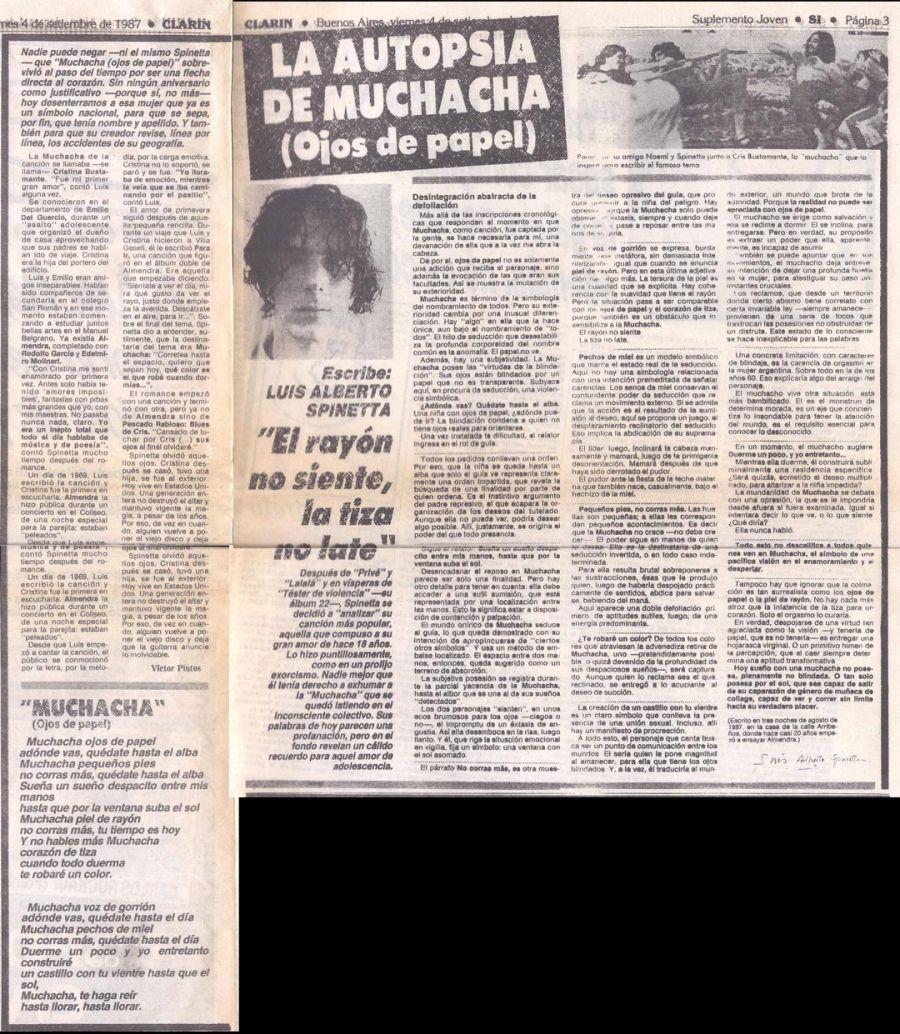 Por Qué Spinetta Abjuró De Muchacha Ojos De Papel Perfil