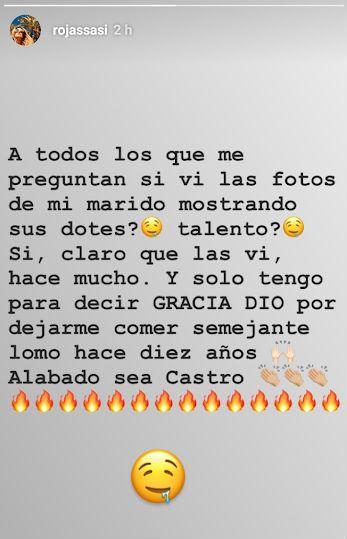 La reacción de Sabrina Rojas, tras la filtración de fotos hot de Luciano Castro
