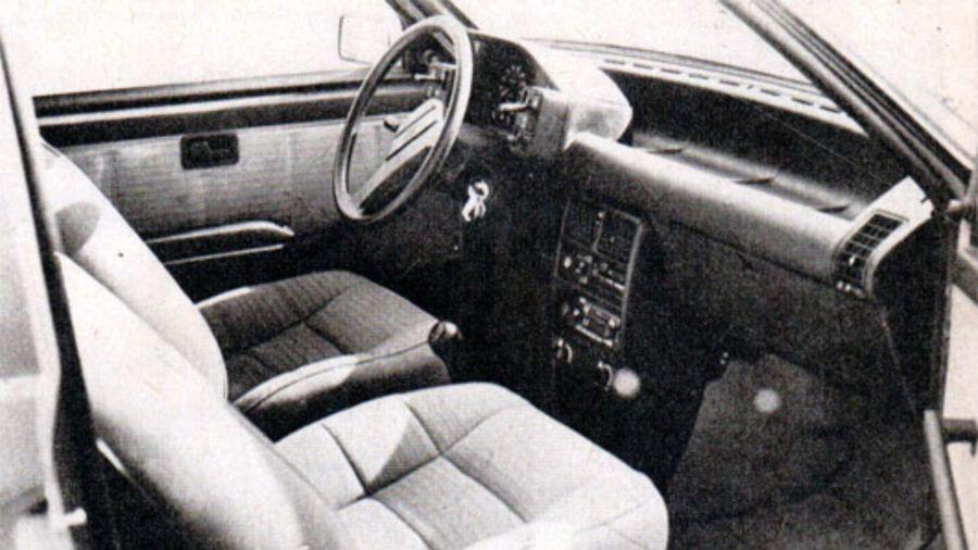 Interior Fiat Uno SCV tres puertas (edición octubre 1988)