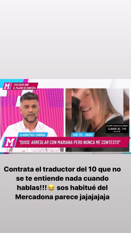 Mariana Nannis abrió una cuenta de Instagram para matar a Caniggia y a su novia