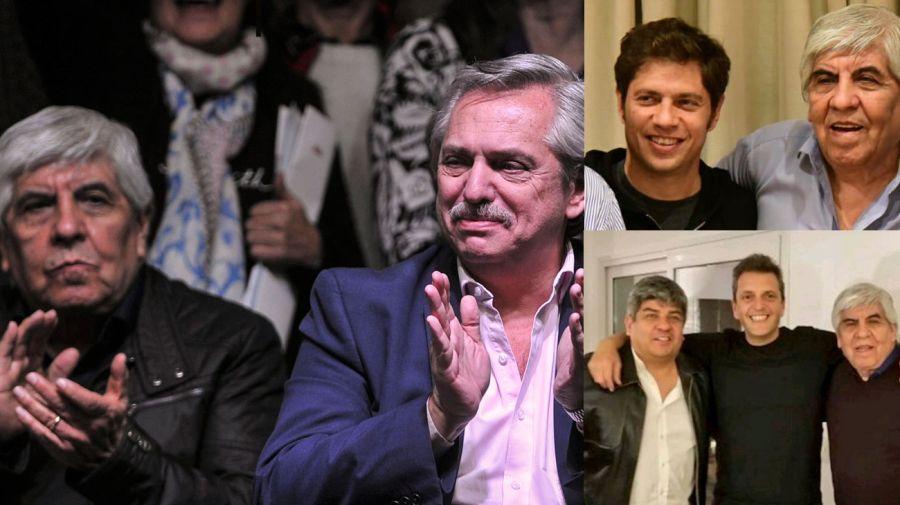 Moyano ratificó su apoyo al Frente de Todos y se muestra con los diferentes candidatos del espacio