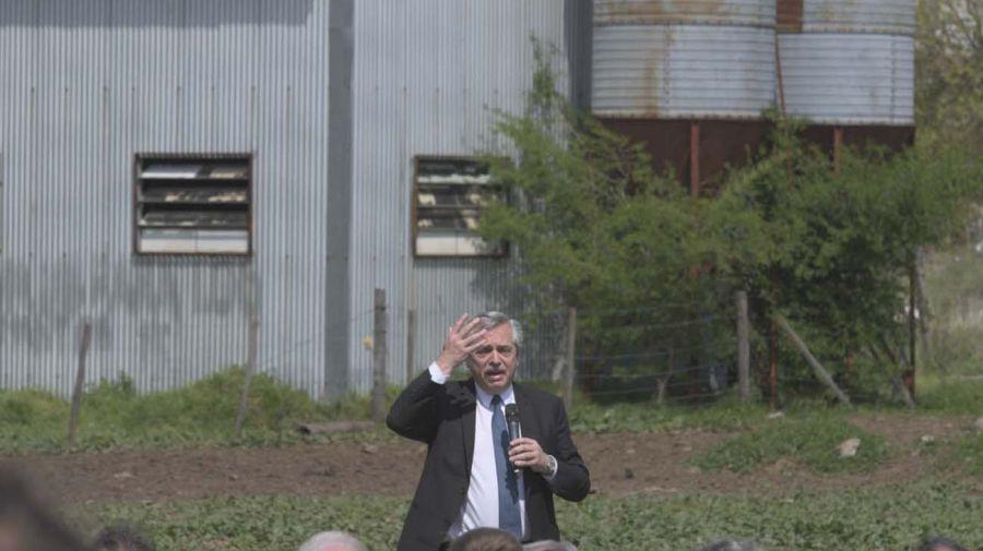Alberto Fernández en la Facultad de Agronomía de la UBA. Foto: Télam.
