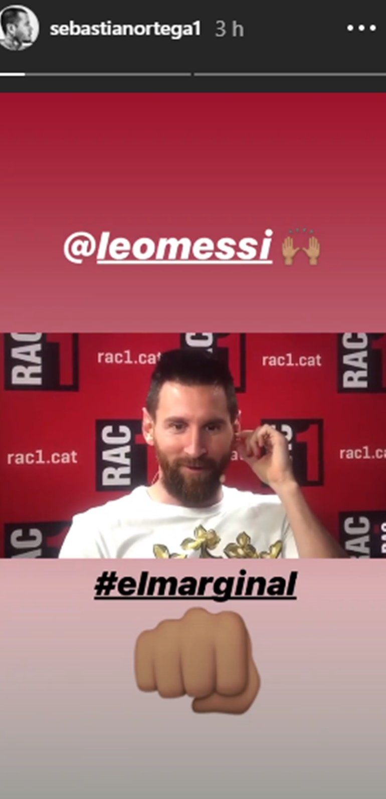 Leo Messi fanático del marginal