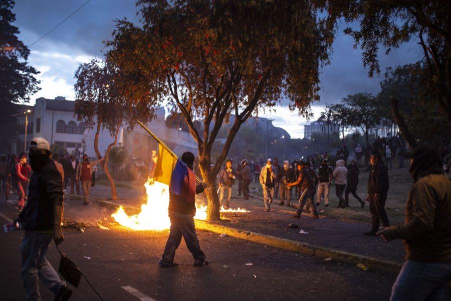 Una postal de la violenta situación que vive Ecuador.
