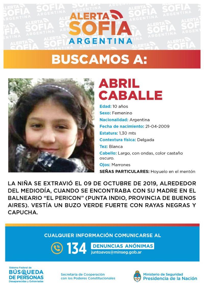 Amplían la búsqueda de Abril Caballes, la niña desaparecida en Punta Indio.