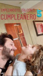 Benja Vicuña con Benicio