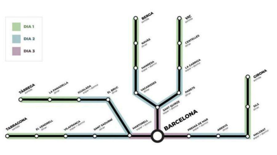 Las cinco columnas de marchas están en camino a Barcelona, donde llegarán el próximo viernes.
