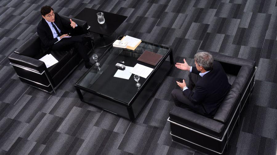 Adolfo Prat-Gay, en la entrevista con Jorge Fontevecchia.