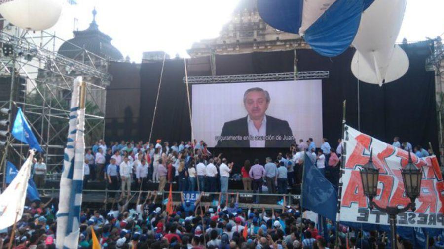Acto de cierre de Manzur en Tucumán