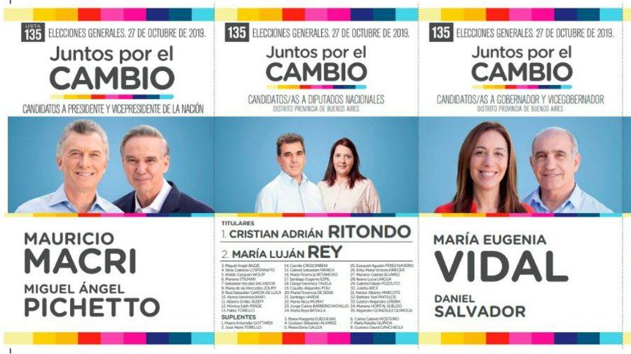 boletas elecciones octubre 2019
