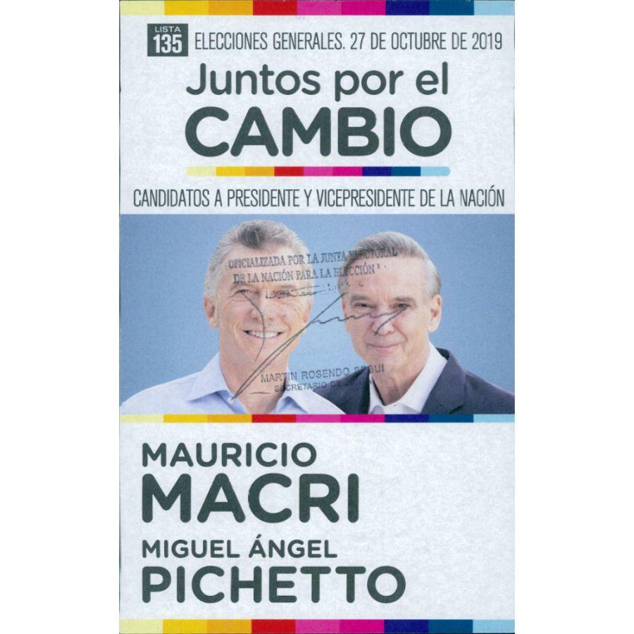 boletas presidenciales 27 octubre