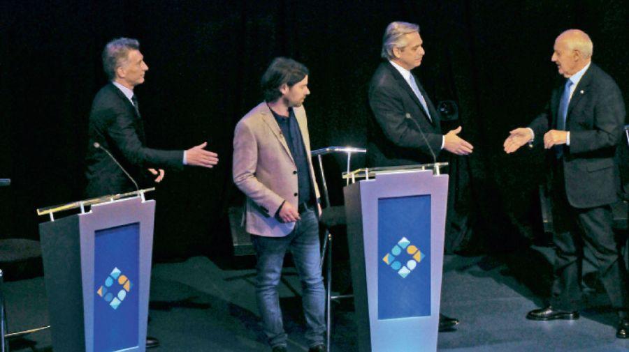 Debate presidencial: saludo de los candidatos