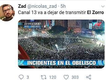 Levantaron El Zorro y sus fans estallaron en las redes sociales