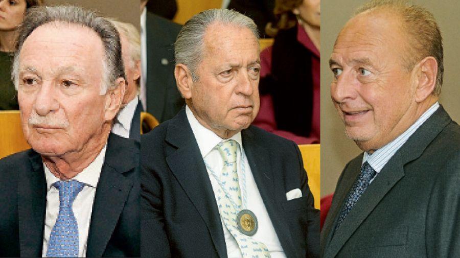 El constructor Gustavo Weiss, Daniel Funes de Rioja y José Luis Manzano