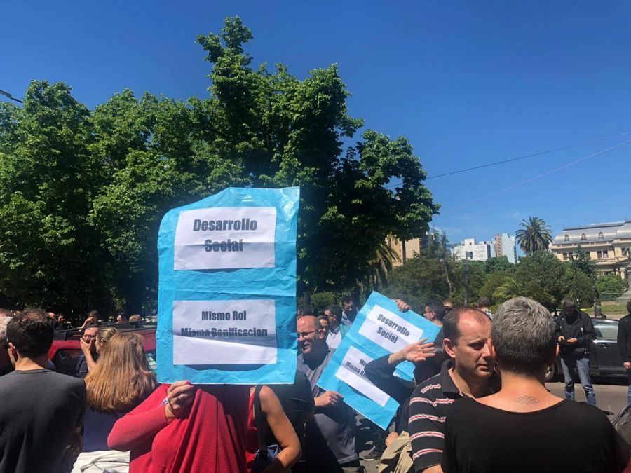 Protesta en La Plata