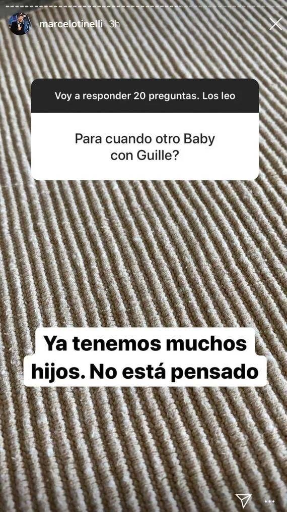 Marcelo Tinelli habló sobre ser papá nuevamente con Guillermina Valdés