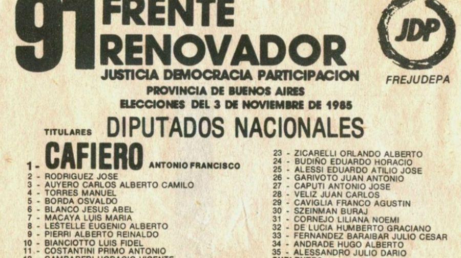 Boleta del Frente Renovador Justicialista