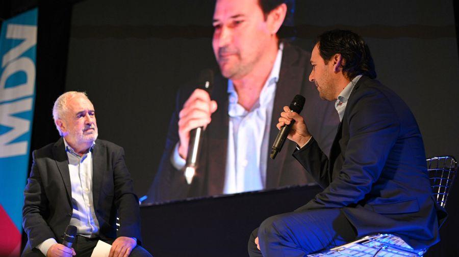 Carlos Acosta (Reporte Publicidad) y Ezequiel Jones (Unilever)