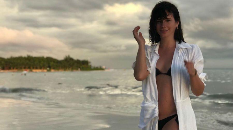 Griselda Siciliani en la playa
