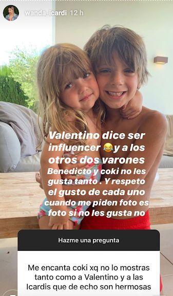 Wanda Nara confesó por qué no expone en redes a sus hijos Benedicto y Valentino