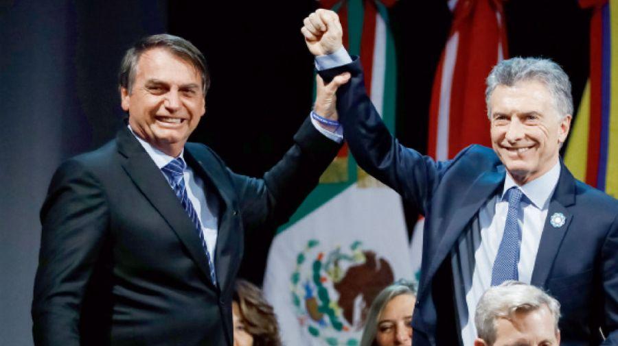 Jair Bolsonaro y Mauricio Macri