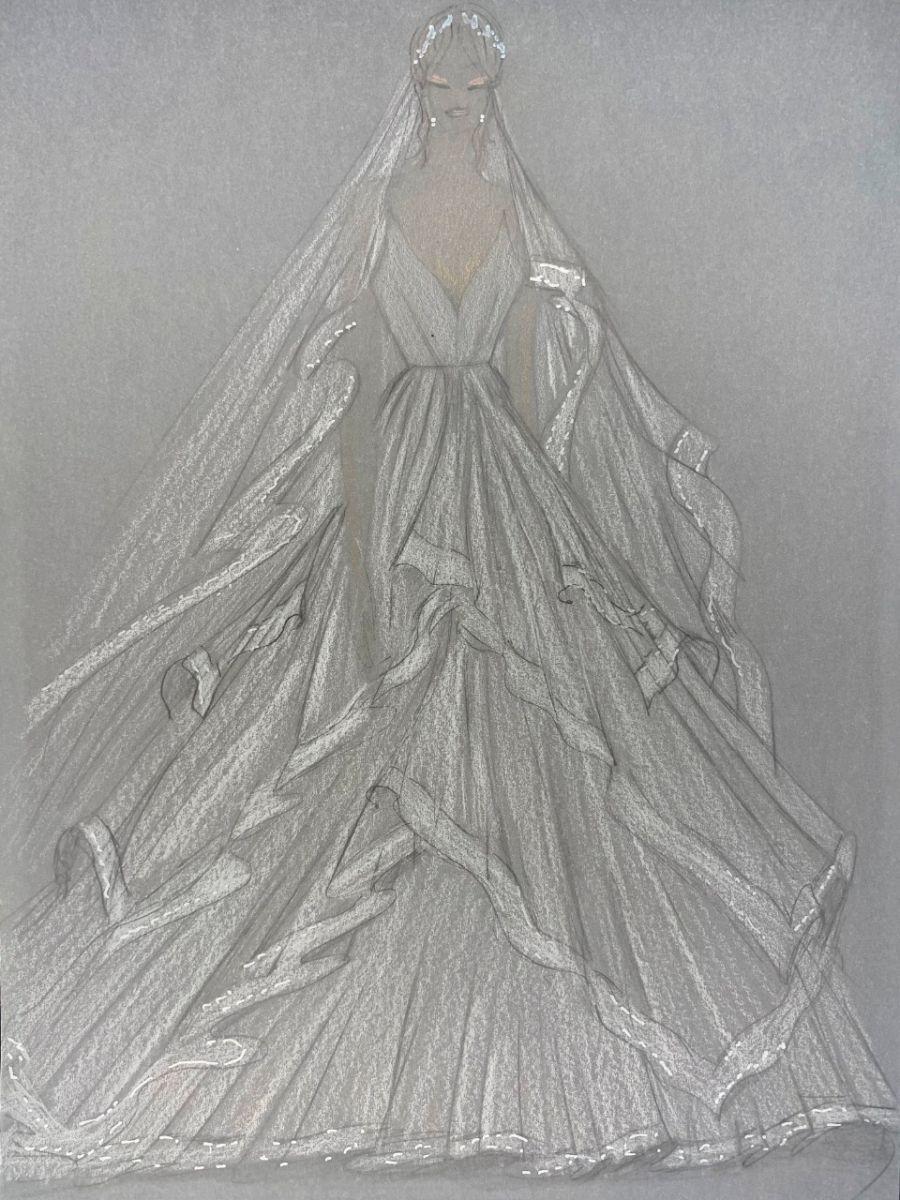 Diseño del vestido de Pampita