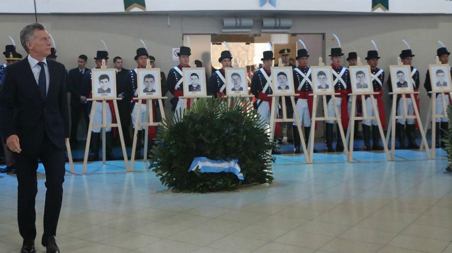 Macri, en el acto homenaje.