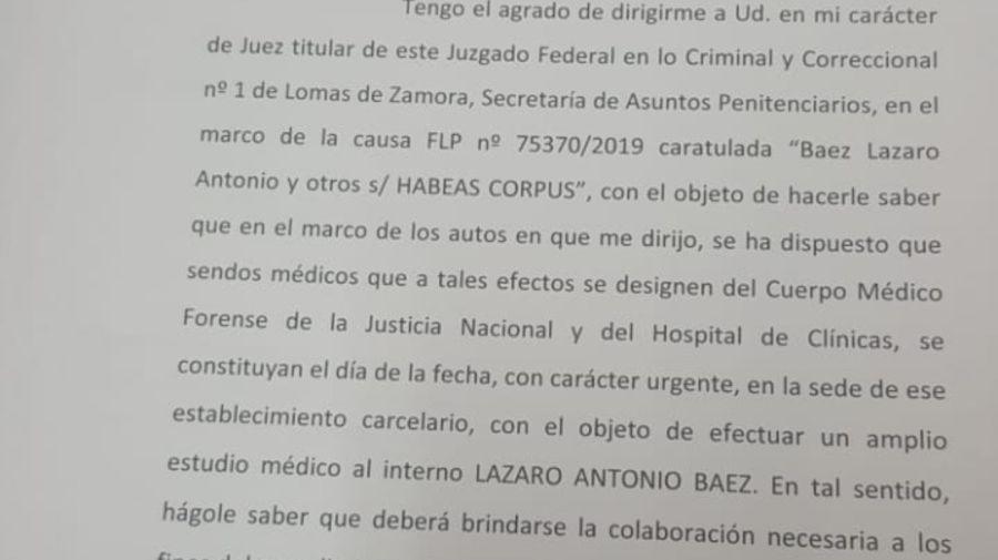 lazaro baez comunicado 1 05122019