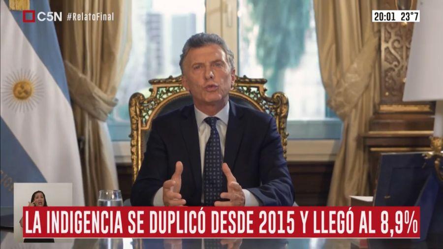 Macri en cadena nacional 2