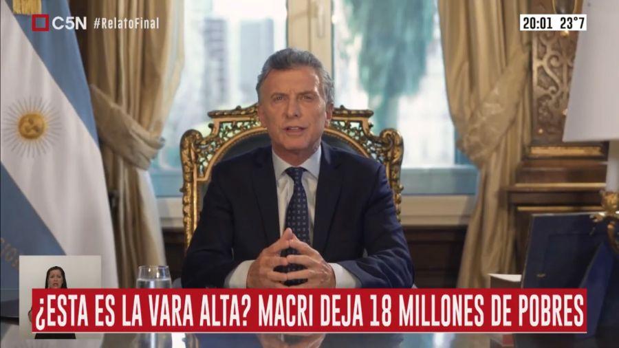 Macri en cadena nacional 3