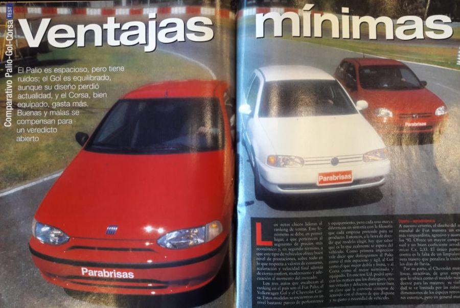 Volkswagen Gol, Fiat Palio y Chevrolet Corsa